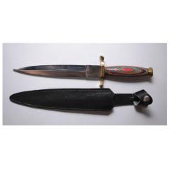 Нож с фиксированным лезвием ручной работы Azhar®